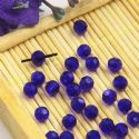 Beads, Selenial Crystal, Crystal, Dark blue , Faceted Rounds, Diameter 4mm, 10 Beads, [ZZC218]